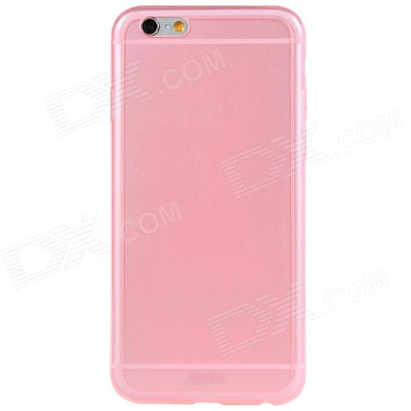 Remax Feather_P Protective Ultra-thin TPU Back Cover Case for 4.7'' IPHONE 6 - Translucent Pink stylish ultra thin protective tpu back case cover for 4 7 iphone 6 translucent pink