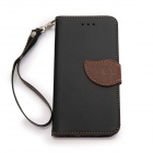 "Leaf Closure Protective PU Leather + Plastic Case for IPHONE 6 4.7"" - Black"
