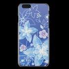 Ultra-thin Embossed Protective Plastic Back Cover Case for IPHONE 6 4.7''- Blue