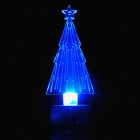 PZCD MY-10 RGB LED Candle Style Colorful Mini Desktop Christmas Tree Lamp - Transparent + Silver
