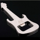 Portable Creative Guitar Shaped Bottle Opener Keychain - Silver