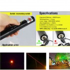 5mW 650nm Visible Adjustable Beam Red Laser Pointer Pen - Black
