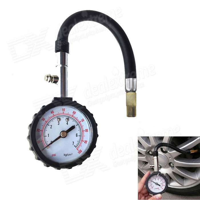 0~100 PSI Tire Air Pressure Gauge Meter Tester for Car Truck Motorcycle (0~7kg/cm2) 1pc ar2000 g1 4 pneumatic mini air pressure regulator air treatment units factory wholesale good quality bspt valve with gauge