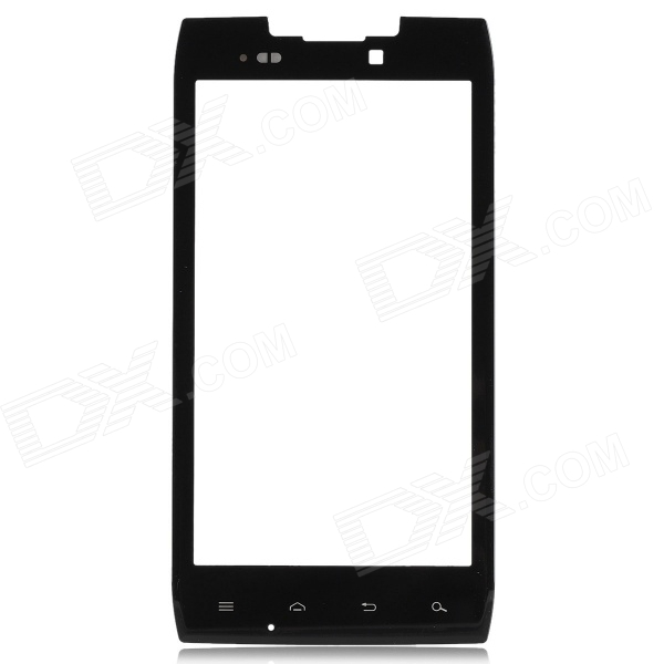 Replacement Tempered Glass Screen Front Touch Panel for Moto XT910 - Black + Transparent black touchscreen panel glass digitizer lens sensor replacement parts for asus memo pad 10 me103k 10 1 tablet