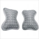 Carking CS-17 Neck Bone Pillow Cushion Neck-Protection Car Headrest Pillow - Grey + White (2 PCS)