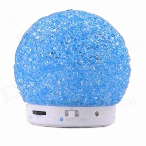купить BT1046 Wireless Bluetooth Speaker w/ Hands-Free, TF, FM, Micro USB - Blue + White недорого