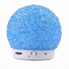BT1046 Wireless Bluetooth Speaker w/ Hands-Free, TF, FM, Micro USB - Blue + White