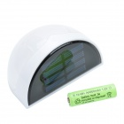 0.36W 12LM Warm White 6-LED Waterproof Solar Wall Light - White (2V)