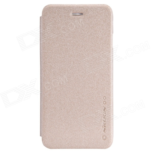 NILLKIN Star Series Protective PU Leather + PC Flip Open Case for 4.7'' IPHONE 6 - Champagne Gold nillkin star series protective case for moto g2 pink