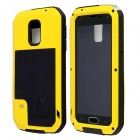 LOVE MEI HW01 Aluminum Alloy + Silicone Back Case w/ Strap for Samsung Galaxy S5 - Black + Yellow