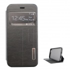 "Ultra-thin PU Leather + TPU Flip-open Case w/ Stand for IPHONE 6 4.7"" - Black"