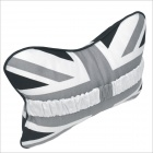 Carking CS-30 Flag Patterned Vehicle Car Seat Head Neck Rest Pillow - White + Grey (2pcs)
