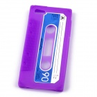 PANNOVO Protective Unique Retro Cassette Tape Silicon Back Case for IPHONE 5 / 5S - Purple