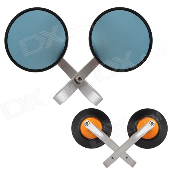 MZ Universal Motorcycle Aluminium CNC Round Anti-Glare Rearview Mirror - Silver + Blue (2 PCS) wells h g the war of the worlds война миров роман на англ яз