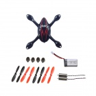 Hubsan X4 H107C FPV R/C Quadcopter Spare Parts Crash Pack - Black + Red