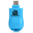 2-in-1 Micro USB OTG TF Card Reader for Cell Phone / Tablet PC - Blue