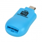 2-in-1 mikro USB OTG TF Card Reader matkapuhelin / Tablet PC - sininen