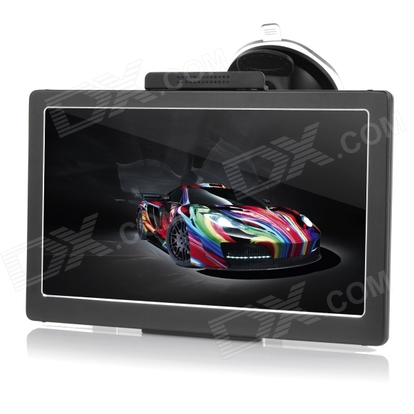 800F 7 Resistive Screen Win CE 6.0 Car GPS Navigator - Black
