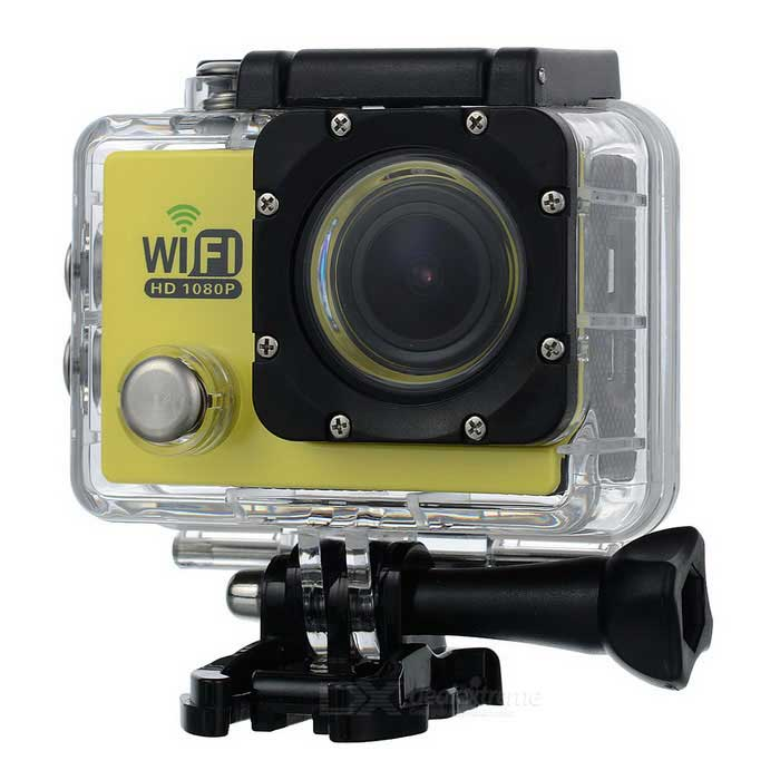 Water Resistant FPV HD 2.0 LTPS CCD Wide Angle Sports DV Camera w/ Wi-Fi - Blue + Black vr360 panoramic camera wi fi remote control sports action camera