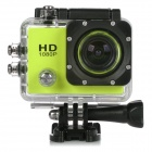 "HD 1080P 2.0"" Screen Waterproof Sport CCD 12MP Wide Angle Camera - Yellow + Black"