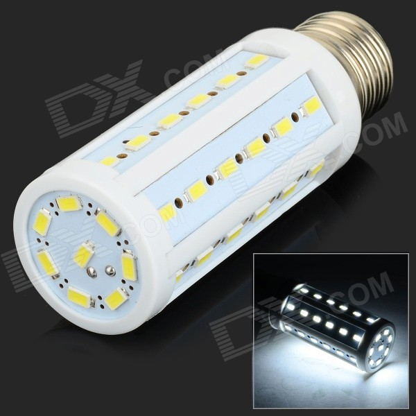 E6-1244 E27 12W 1200lm 12000K 44-SMD 5630 LED Cool White Corn Lamp - White + Light Yellow (110~220V)