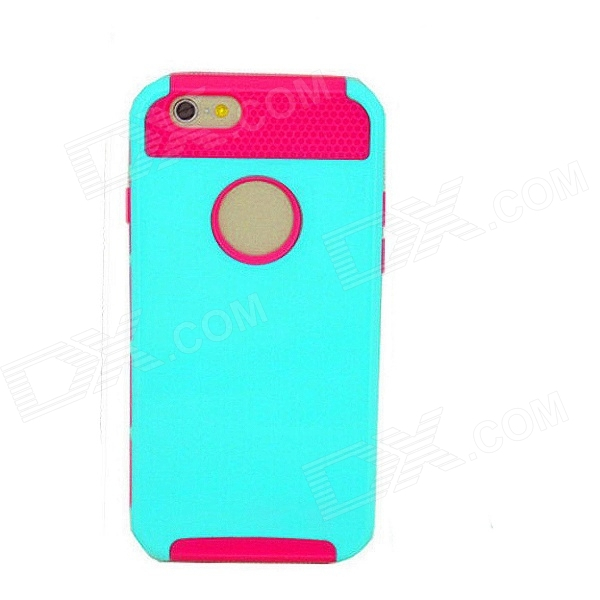 2-in-1 Detachable Protective PC + TPU Back Case for 4.7 IPHONE 6 - Green + Pink 2 in 1 detachable protective tpu pc back case cover for samsung galaxy note 4 black