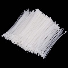 YDS-150M 4 x 150mm autobloqueable Nylon Cable Tie Wraps - Blanco (500PCS)