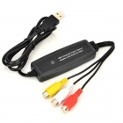 CYF-403 480Mbps RCA to USB Video Capture Adapter w/ Audio for Mac - Black