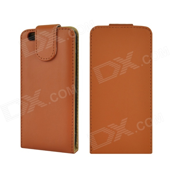 "Angibabe Leather Flip Up & Down PU caso capa para o iPhone Bag 6 4.7 ""- Brown"