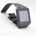 "Z20 1.54"" Capacitive Curved Touch Screen GSM Watch Phone w/ Pedometer, Sleeping Monitor - Black"
