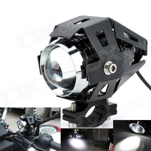 Marsing U5 Waterproof 30W 2500lm 6500K 3-Mode LED Cool White Car Headlight - Black (DC 12~28V)