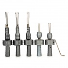 B097 Steel Adjustable Cross Lock Pick Tool Set - Silver (5 PCS)