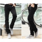 BaiBianJiaoDu 805 Men's Autumn / Winter Wear Corduroy Casual Pants - Black (Size 34)