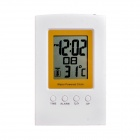 "3"" Screen Smart Digital Water Power Clock - White + Yellow"