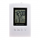 "3"" Screen Smart Digital Water Power Clock - White + Black"
