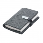 S02-CJ3214 Wool Felt 32K Notebook w/ 4GB USB 2.0 Flash Disk - Deep Grey