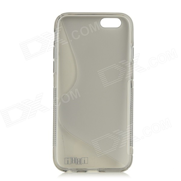 IKKI S Shaped Protective TPU Back Case for IPHONE 6 4.7'' - Grey
