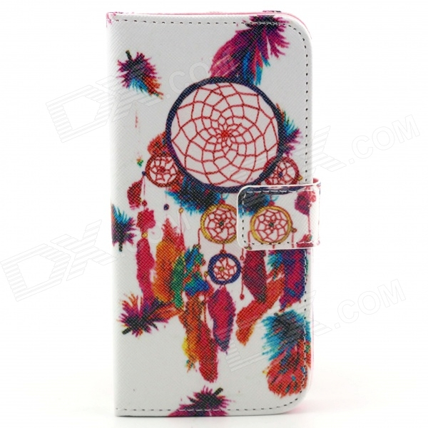 Dream Catcher Pattern Flip-open PU Leather Case with Stand and Card Slot for IPHONE 6 4.7inch cute owl pattern pu leather flip open case w stand card slot for iphone 4 4s multi color