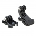 Flat + J-Shape Fast Assembling Mount Buckle for Gopro Hero 4/ 3 / 3+ / SJ4000 / SJ5000 - Black