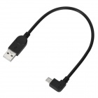 USB 2.0 to Micro USB Right Angle 90° Connection Cable for HTC - Black