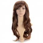 SYSH010 Fashion Tilted Frisette Long Curly Wig - Light Brown
