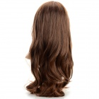 SYSH010 Muoti Tilted Frisette Long Curly Wig - Vaaleanruskea