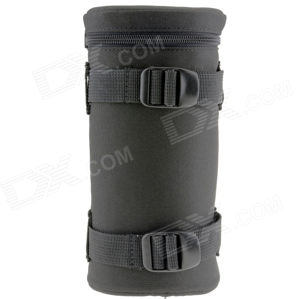 E16 Universal Thickened Protective Nylon Camera Lens Case Pouch - Black