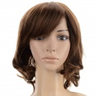 SYSH007 Fashion Tilted Frisette Medium Curly Wig - Browm