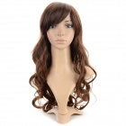 SYSH001 Fashion Tilted Frisette Long Curly Wig - Light Brown