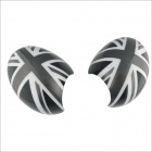 Carking D1409118 UK Flag Pattern ABS UV Protected Car Door Mirror Stickers - Grey + Black (2 PCS)