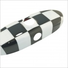 Carking Grid Pattern ABS Protegido UV Car Interior Espejo Etiqueta - Blanco + Negro
