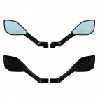MZ Universal Motorcycle luminium CNC Pentagon Anti-Glare Rearview Mirrors - Blue + Black
