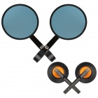 MZ Universal Motorcycle Aluminium CNC Round Anti-Glare Rearview Mirrors - Blue + Black