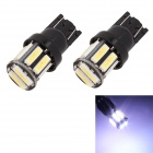 MZ T10 5W 300LM 6500K 10 x SMD 7020 LED Cool White Car Clearance Lamp / Side Light (12V / 2 PCS)